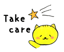 To you who are sick. Sick condition cat sticker #15514814