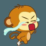 สติ๊กเกอร์ไลน์ Cute Yellow Monkey Animated