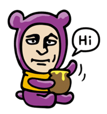 THE OLD MAN IN PURPLE BEAR sticker #15523610