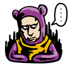 THE OLD MAN IN PURPLE BEAR sticker #15523626