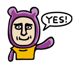 THE OLD MAN IN PURPLE BEAR sticker #15523630