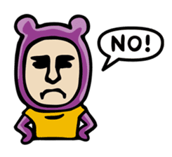 THE OLD MAN IN PURPLE BEAR sticker #15523631