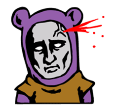 THE OLD MAN IN PURPLE BEAR sticker #15523636