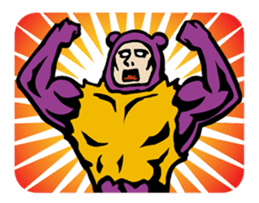 THE OLD MAN IN PURPLE BEAR sticker #15523640