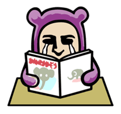 THE OLD MAN IN PURPLE BEAR sticker #15523642