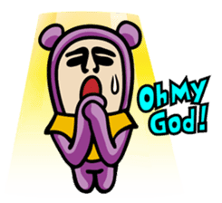 THE OLD MAN IN PURPLE BEAR sticker #15523645