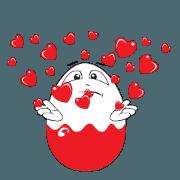 สติ๊กเกอร์ไลน์ Funny Egg Emoticons, Animated