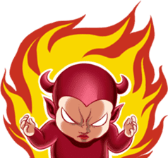 BaBy Demon Funny Face sticker #15545028
