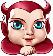 BaBy Demon Funny Face sticker #15545032