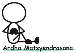 Matchstick Yoga sticker #15546259