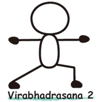 Matchstick Yoga sticker #15546276