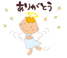 """I am an angel.""""What are you doing?"""" sticker #15559622"""