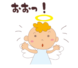 """I am an angel.""""What are you doing?"""" sticker #15559624"""