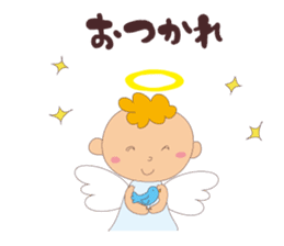 """I am an angel.""""What are you doing?"""" sticker #15559626"""