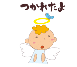 "I am an angel.""What are you doing?"" sticker #15559627"