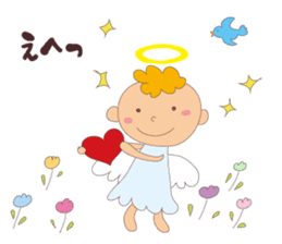 """I am an angel.""""What are you doing?"""" sticker #15559632"""
