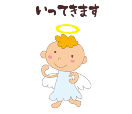 """I am an angel.""""What are you doing?"""" sticker #15559651"""