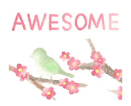 Watercolor painting sticker #15565321