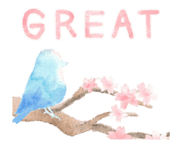 Watercolor painting sticker #15565329