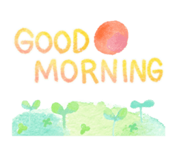 Watercolor painting sticker #15565330