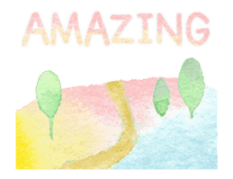 Watercolor painting sticker #15565335