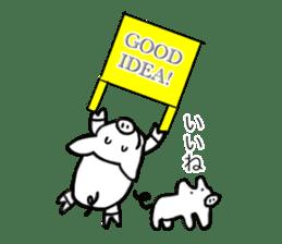 Pig series sticker #15569464