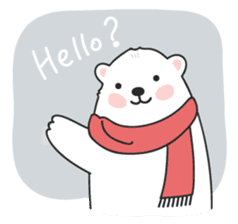 Sweet polar bear 'Gommy' stickers sticker #15580210