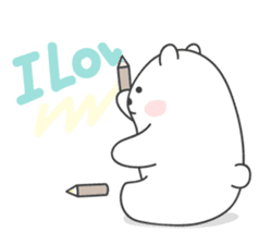 Sweet polar bear 'Gommy' stickers sticker #15580213