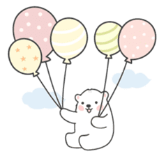 Sweet polar bear 'Gommy' stickers sticker #15580214