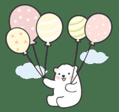 Sweet polar bear 'Gommy' stickers sticker #15580214