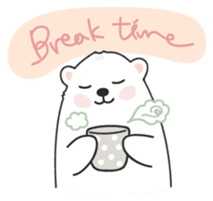 Sweet polar bear 'Gommy' stickers sticker #15580215