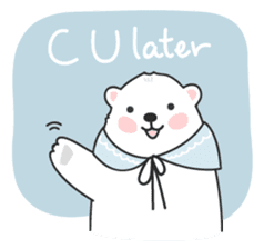Sweet polar bear 'Gommy' stickers sticker #15580217