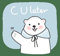 Sweet polar bear 'Gommy' stickers sticker #15580217