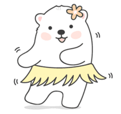Sweet polar bear 'Gommy' stickers sticker #15580218