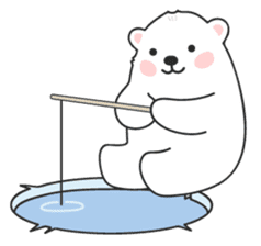 Sweet polar bear 'Gommy' stickers sticker #15580219