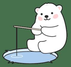 Sweet polar bear 'Gommy' stickers sticker #15580219