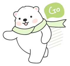 Sweet polar bear 'Gommy' stickers sticker #15580220