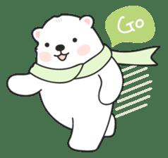Sweet polar bear 'Gommy' stickers sticker #15580220