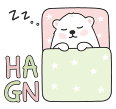 Sweet polar bear 'Gommy' stickers sticker #15580221
