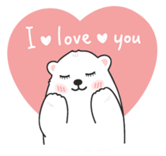 Sweet polar bear 'Gommy' stickers sticker #15580222