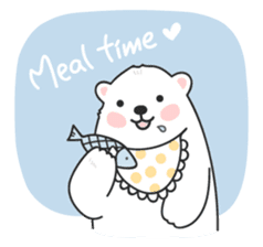 Sweet polar bear 'Gommy' stickers sticker #15580225