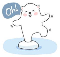 Sweet polar bear 'Gommy' stickers sticker #15580226