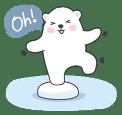 Sweet polar bear 'Gommy' stickers sticker #15580226