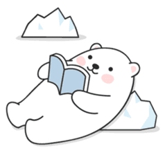 Sweet polar bear 'Gommy' stickers sticker #15580228