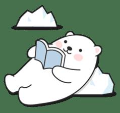 Sweet polar bear 'Gommy' stickers sticker #15580228