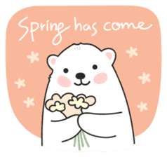 Sweet polar bear 'Gommy' stickers sticker #15580230