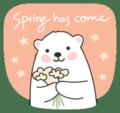 Sweet polar bear 'Gommy' stickers sticker #15580230