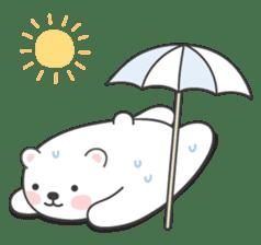 Sweet polar bear 'Gommy' stickers sticker #15580231