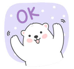 Sweet polar bear 'Gommy' stickers sticker #15580233