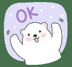 Sweet polar bear 'Gommy' stickers sticker #15580233